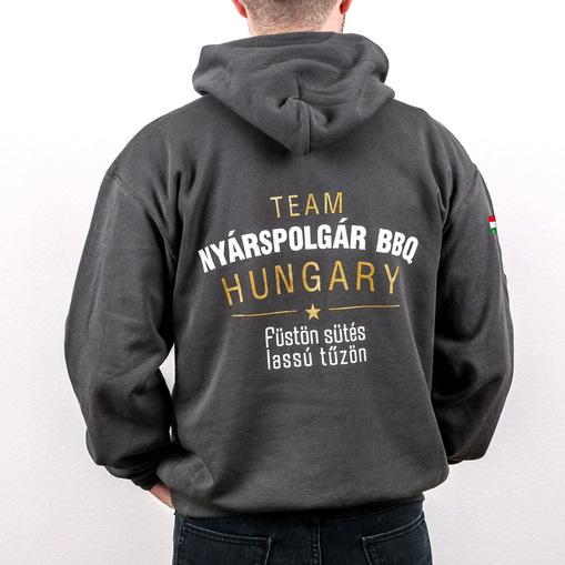 Team nyarspolgar bbq kapucnis pulover kepek pulcsi 2